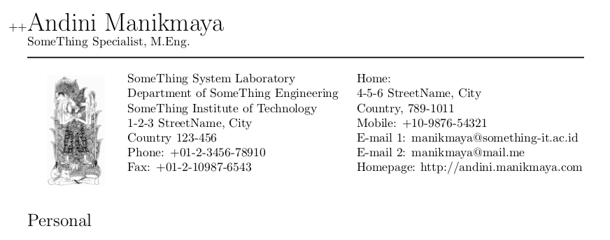academic cv  resume using latex